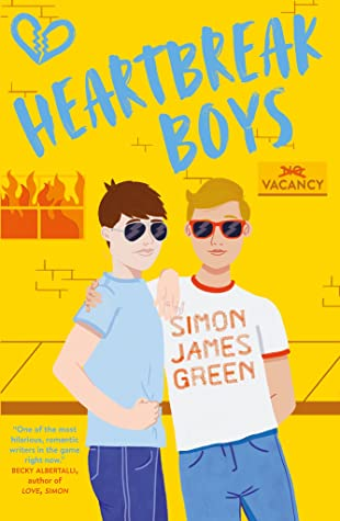 Book cover showing two boys with arms around each other, and a building in flames.