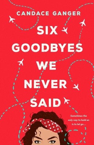 Book cover showing the top half of a girl's face, with airplanes in the sky.