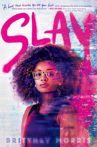 Book cover showing a Black girl in glasses.