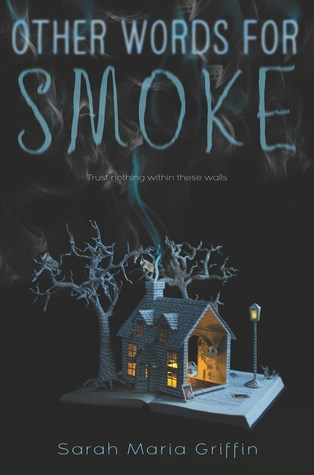 Book cover showing a house with wisps of smoke above.