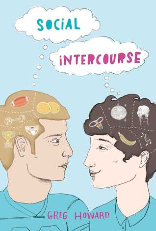 Book cover showing two boys looking at each other, with various thoughts showing in their brains.