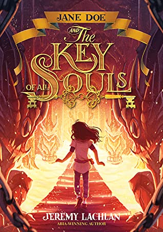 Book cover showing a girl on a path with fiery landscape.