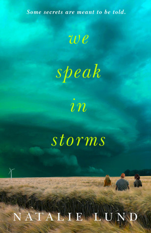 Book cover showing three characters standing in a tall grass under stormy skies.
