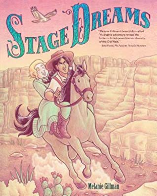 Book cover showing two drawn characters on a horse, traveling through the desert.