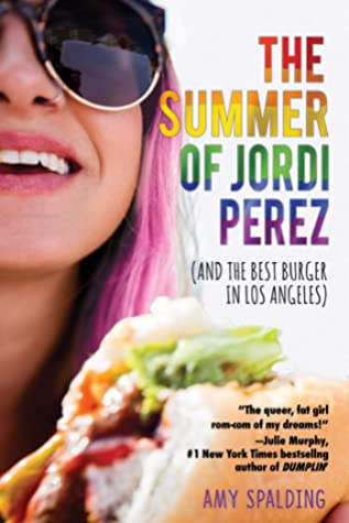 Book cover showing pink-haired woman in sunglasses with a burger.