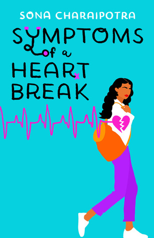 Book cover showing a women with a bag, a broken heart on her sleeve.