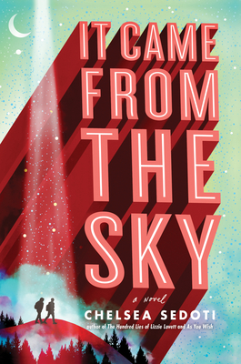 Book cover showing two people walking on a hill, under a light from the sky.