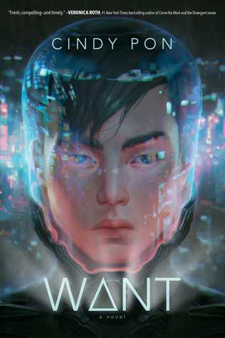 Book cover showing boy's face and lights around it.