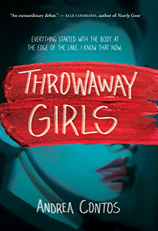 Book cover showing a girl with red paint obscuring part of her face.