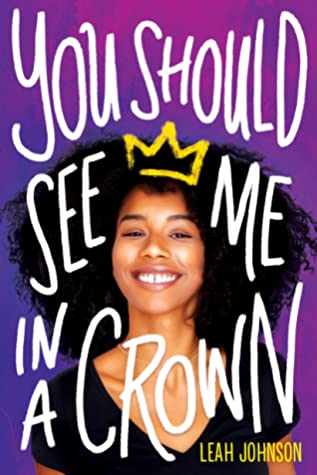 Book cover showing a Black girl smiling wearing a drawn crown.
