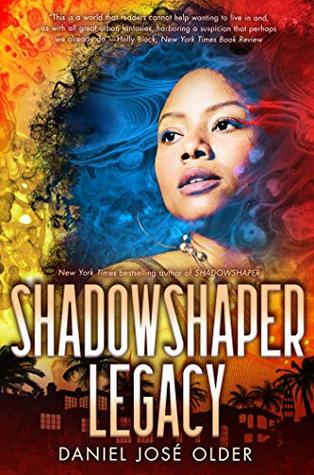 Book cover showing a Black girl in a fiery sky over buildings and trees.