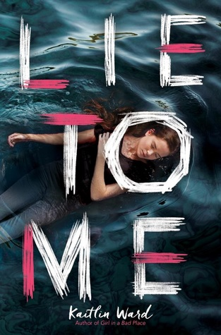 Book cover showing a girl lying in water.