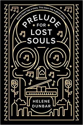 Book cover showing a skull and piano.