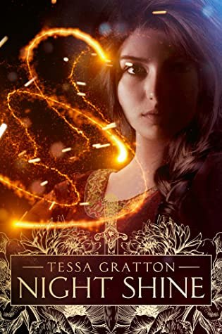 Book cover showing a girl with swirling light.