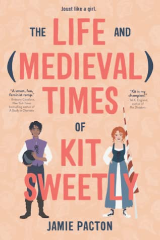 Book cover showing two characters in medieval costumes.