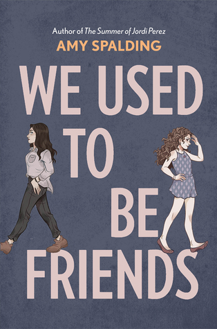 Book cover showing two girls walking away from each other.