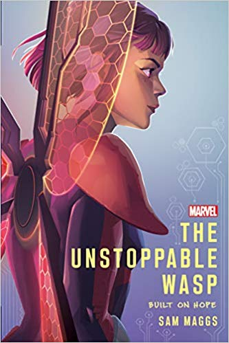 Book cover showing a superhero wasp girl.